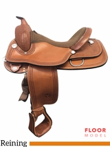 "PRICE REDUCED! 16"" Circle Y Fargo Wide Reining Saddle 2663, Floor Model"