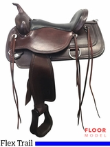 "PRICE REDUCED! 16"" Circle Y Omaha Wide Flex2 Trail Saddle 1554, Floor Model"