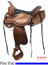 "PRICE REDUCED 16"" Circle Y Teton Medium Flex Trail Saddle 1760, Floor Model"
