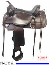 """SOLD 2017/08/29  PRICE REDUCED! 16"""" Circle Y Topeka Wide Flex2 Trail Saddle 1651, Floor Model"""
