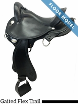 "PRICE REDUCED! 16"" Circle Y Virginia Wide Flex Trail Gaited Saddle 1588, Floor Model"
