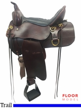 "PRICE REDUCED! 16"" High Horse Big Springs Wide Trail Saddle 6862, Floor Model"