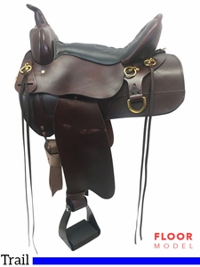 """SOLD 2017/11/11 PRICE REDUCED! 16"""" High Horse Big Springs Wide Trail Saddle 6862, Floor Model"""