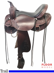 "SOLD 2017/08/16  PRICE REDUCED! 16"" High Horse Oyster Creek Wide Trail Saddle 6808, Floor Model"