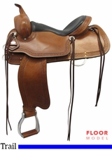 "PRICE REDUCED! 16"" Used Circle Y Shallowater All-Around Trail Saddle 2606, Floor Model"