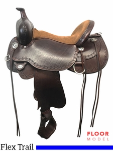 "PRICE REDUCED! 17"" Circle Y Alpine Flex2 Medium Trail Saddle 2377, Floor Model"