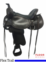 "PRICE REDUCED! 17"" Circle Y Alpine Medium Flex2 Trail Saddle 2377, Floor Model"