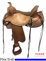 "PRICE REDUCED! 17"" Circle Y Alpine Wide Flex2 Trail Saddle 2377, Floor Model"