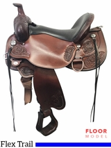 "PRICE REDUCED! 17"" Circle Y Clearwater Wide Flex2 Trail Saddle 2379, Floor Model"