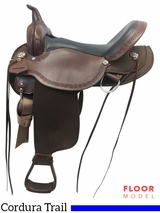 "PRICE REDUCED! 17"" High Horse Daisetta Wide Trail Saddle 6914, Floor Model"
