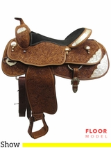 "PRICE REDUCED! 17"" Billy Cook Greenville Wide Show Saddle 73356, Floor Model usbi3364 *Free Shipping*"