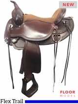 "PRICED REDUCED! 16"" Circle Y Omaha Wide Flex2 Trail Saddle 1554, Floor Model"
