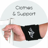 Professional's Choice Clothes and Knee, Elbow, Wrist, Back Wraps and Support