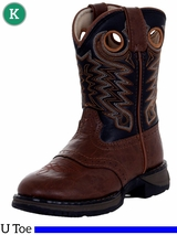 Rebel by Durango Boy's Dusk & Black Saddle Western Boots BT200 Size 8.5 - 3