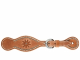 Schutz Bros Men's Outlaw Harness Leather Spotted Spur Rowel Spur Straps 9183E599HL