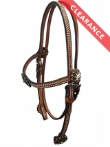 Silver Spots with Iron Silver Spur Conchos Browband Headstall CLEARANCE