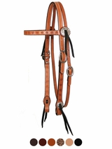 Spider Tooled Gaiter Browband Headstall by Circle Y 0100-63