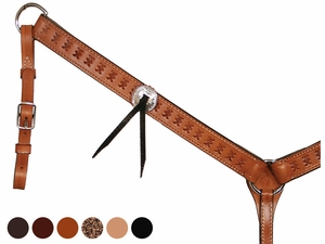 Spider Tooled Trail Gaiter Breast Collar by Circle Y 4280-63