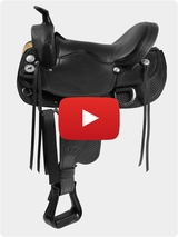 Tennessean Supreme Gaited Horse Trail Saddle 1-2212 Video Review