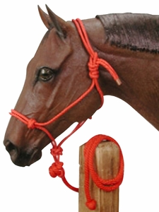 Tied Rope Halter with 10' Lead 50-1010