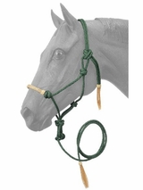 Tough-1 Rawhide Noseband Rope Halter w/ Lead