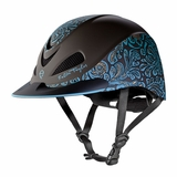 Troxel Fallon Taylor Turquoise Floral Performance Helmet 04-398