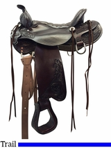 "** SALE ** 15.5"" to 18.5"" Tucker Meadow Creek Trail Saddle 291"