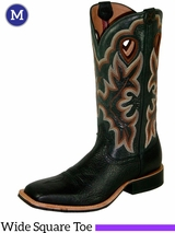 "Twisted X Men's 14"" Ruff Stock WS Toe Boots Black mrs0014"