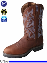 Twisted X Men's Cowboy Waterproof & Steel Toe Work Boots MSCW001