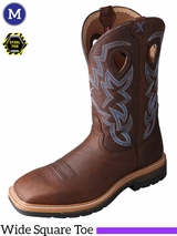 Twisted X Men's Lite Cowboy Brown Pebble Steel Toe Work Boots MLCS003