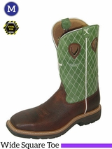 "Twisted X Men's Lite Cowboy Work 12"" NWS Toe Boots mlcs002"