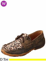 Twisted X Women's Distressed Leopard Driving Moccasins WDM0057