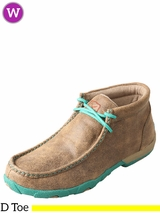Twisted X Women's Driving Turquoise/Bomber Moccasins WDM0020