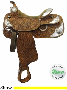 """SOLD 2017/08/22  Used 15"""" Silver Mesa Show Saddle 3279749 ussm3299 *Free Shipping*"""