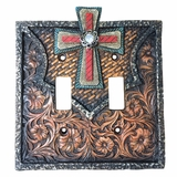 Western Moments Cross Toggle Switch Plate 94303