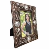 Western Moments Crystal Concho Picture Frame 9416702