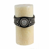 Western Moments Crystal Concho Wrapped Vanilla Scented Candle 94854