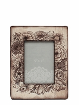 Western Moments Sketched Flowers Picture Frame 94016