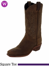 Women's Abilene Olive Brown Oiled Cowhide Western Boots 9011