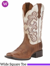 Women's Ariat Quickdraw Wide Square Toe Boots 10015318