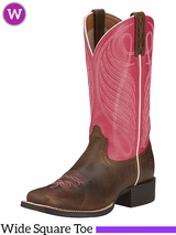 Women's Ariat Round Up Wide Square Toe Boots 10016319