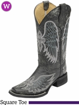Women's Circle G by Corral Black Crackle Boots L5083