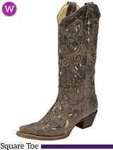 Women's Corral Brown Crater Bone Inlay Boots A1098