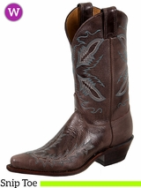 Women's Distressed Dark Brown Bent Rail Boots BRL106 ZDS