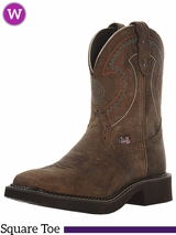 Women's Justin Barnwood Brown Cowhide Boots 9997