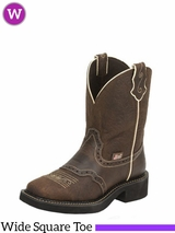 Women's Justin Mandra Brown Boots L9618