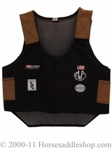 Youth Black Bull Rider Vest by M & F 5056401
