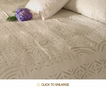 Barmer Applique King Bedspread - White on White
