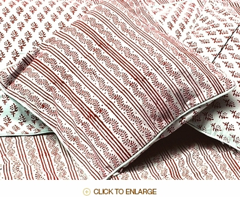 Tilonia® Home: Decorative Pillow Cover - Centipede Stripe in Cranberry