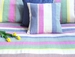 Tilonia Home: King Duvet Set - Multicolored Stripe Barefoot Handloom